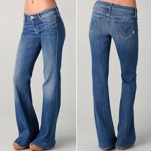 MOTHER The Wilder Flare Jeans in Medium Kitty Wash